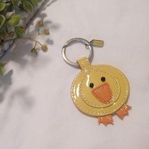 Coach 🦆 duck/chick key ring/fob